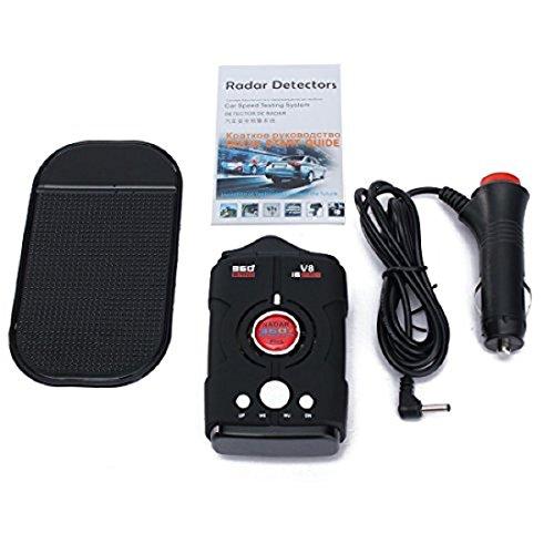 Détecteur de radar GPS V8 GPS pour voiture avec écran LED et bande complète