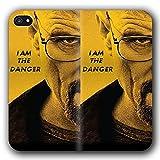 Evonecy Funda iPhone 7 & Funda iPhone 8 Anti-Shock TPU Flip Leather Case Bra King Ba D L G-0283