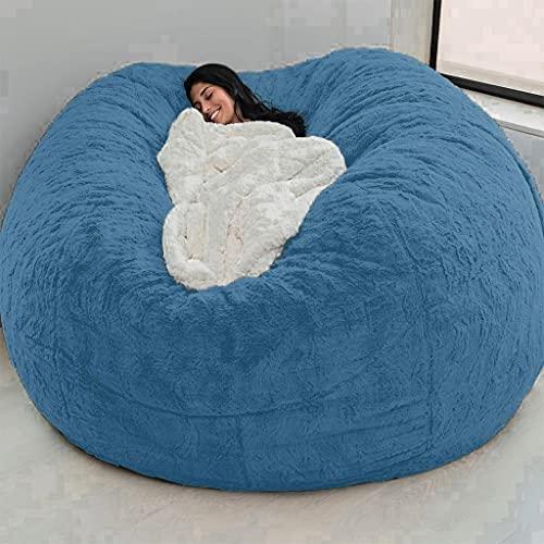 Bean Bag Funda para sillas de sofá, lujosa, ultra suave, gigante, Bean Bag, silla, lavable, perezoso, sillón, puf, silla de almacenamiento, cómoda tumbona (sin relleno) para adultos, niños, adolescent