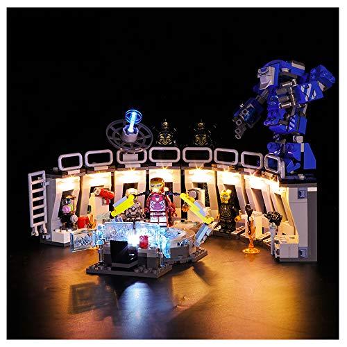 K99 Bausteinbeleuchtung, kompatibel mit Lego 76125 Iron Man Mech Showroom Avengers 4, kreative LED-Beleuchtung...