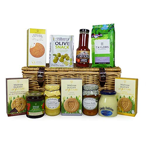 Luxury Gourmet Food Hamper Presented in a Wicker Gift Basket - Gift Ideas for Mum, Valentines, Mother's Day, Birthday, Anniversary, Business and Corporate, Dad, Fathers Day, Christmas