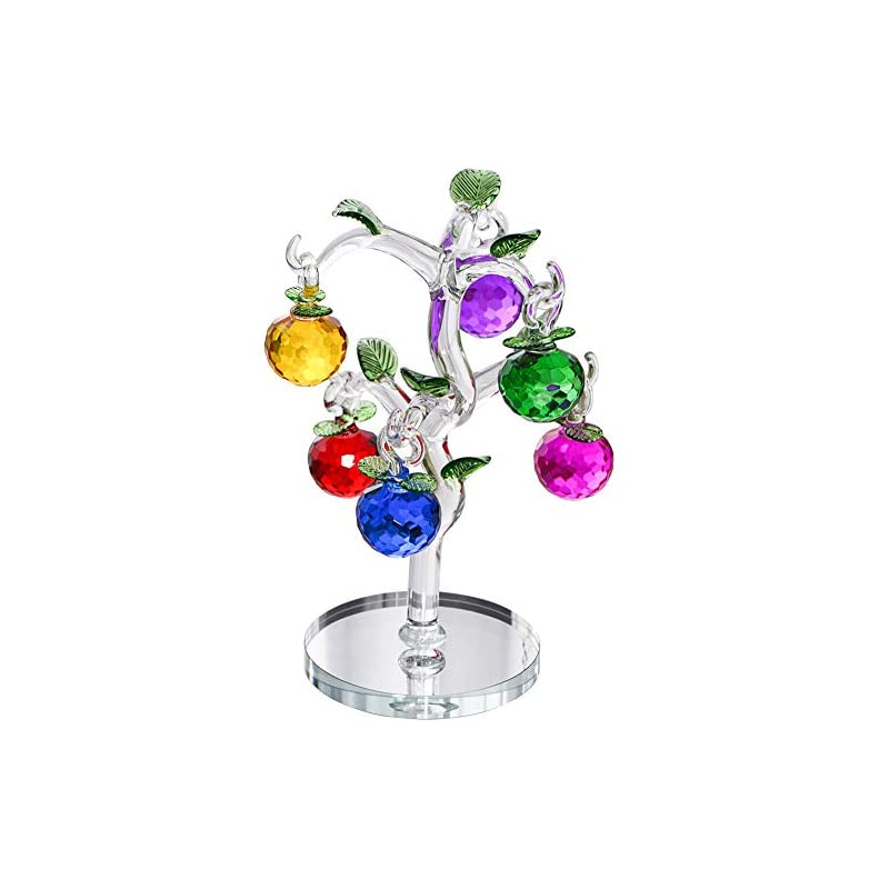 silk flower arrangements crystal apple tree decorative artificial tree colorful crystal ornaments for home bedroom office bar desk decoration party wedding xmas birthday festival gifts