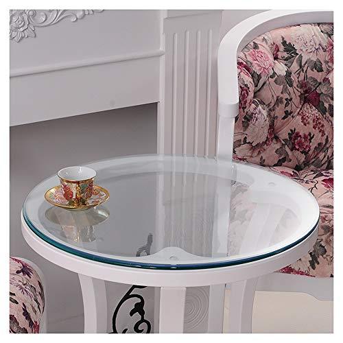 GR5AS - Protector de mesa redonda para mesa de cafe, resistente al agua, antiquemaduras, 1,5 mm, 2 mm de grosor, plastico, 1,5 mm., 110 cm