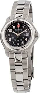 Victorinox Swiss Army Black Dial Stainless Steel Band Ladies Watch 251033