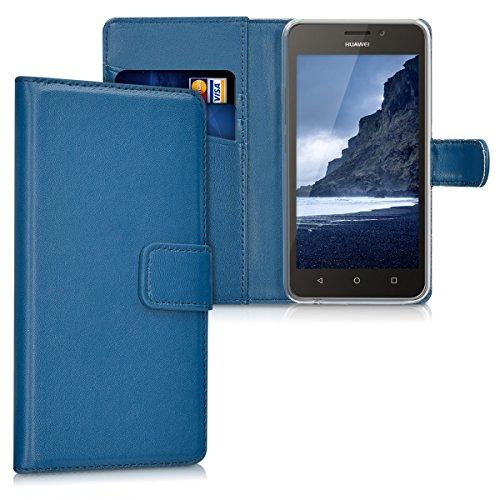 kwmobile Huawei Y635 Hülle - Kunstleder Wallet Case für Huawei Y635 mit Kartenfächern & Stand