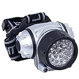 Daffodil LEC005 - LED Stirnlampe / Stirnleuchte mit verstellbarer Helligkeit und flexiblem Neigungswinkel - 4 Helligkeitsstufen - ideal zum Radfahren, Joggen, Camping - Betrieb durch 3xAAA Batterien (nicht inklusive)