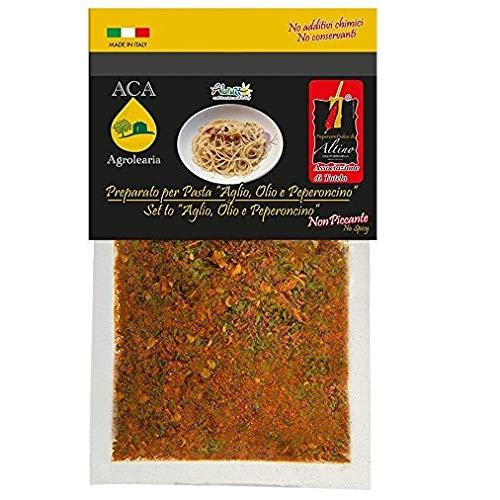 ACA Agrolearia- Preparato per pasta con Aglio,olio e peperoncino NON piccante, busta da 25 gr
