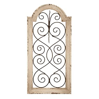 Deco 79 Metal WD Wall Panel, 10x1x20 inches