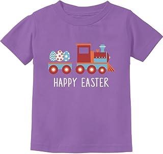 Tstars - Easter Egg Hunt Kids Gift Happy Easter Train Toddler Kids T-Shirt
