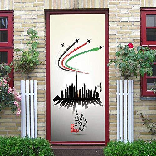 3D Puerta Pegatinas Homenaje Árabe A Las Pegatinas De Puertas De Personajes...