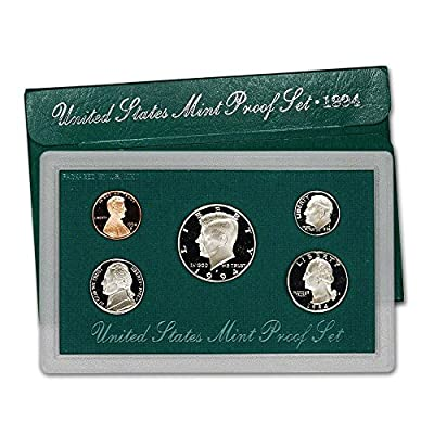 1994 S US Mint 5-Piece Proof Set Orig Box/COA DCAM