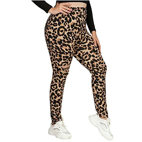MasteriOne Damen Animal Print Leggings Yoga Fitness Hose Lange Streetwear Sporthose Größen Super Slim Amy Jeans mit hoher Taille Casual Jogginghose Sporthose Military Freizeithose