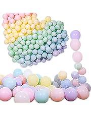 Pastellballonger, fest pastellballonger 100 st 25,4 cm makaron godis färgade latexballonger, födelsedagsballonger, födelsedagsballonger för flickor, grattis på födelsedagen dekorationer för flickor