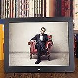 SLRMKK Marco de fotos digital de 12 pulgadas HD IPS LCD marco de imagen electrónico, vídeo/MP3/e-book/publicidad pantalla/reloj/calendario con control remoto, color negro