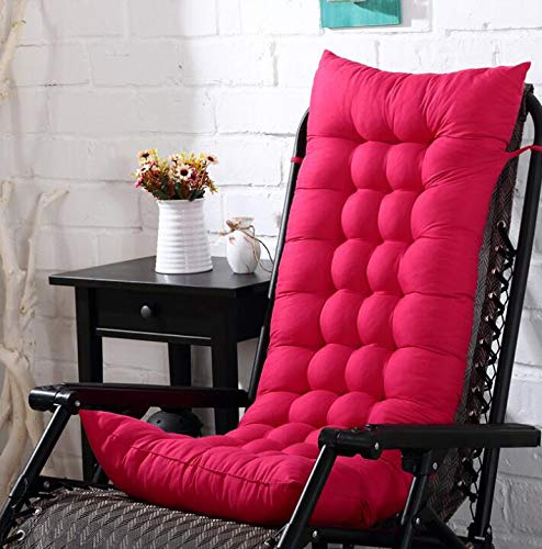 Marbeine - Cojín de silla para tumbona o tumbona (48 x 125 x 8 cm), color fucsia