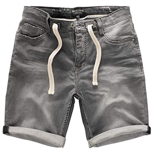 Eight2Nine Herren Joggshorts LETN-026 Sweat-Bermuda in Jeans-Optik Middle Grey W34