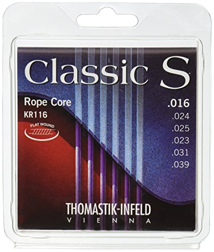 Thomastik 656687 Saiten für Klassik-Gitarre Classic S Series, Satz Rope Core Künstler-Seil KR116 0.016-0.039