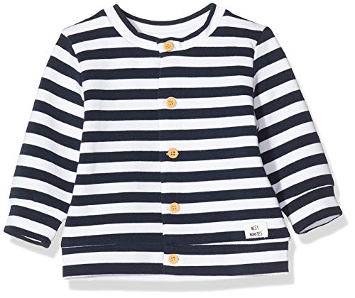 NAME IT Baby-Jungen NBMTIKA LS Sweat Card UNB Strickjacke, Blau (Dark Sapphire), 86