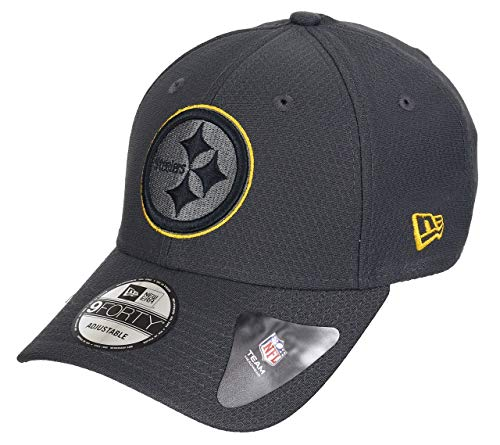 New Era Pittsburgh Steelers 9forty Adjustable Cap NFL Hex Era Graphite - One-Size