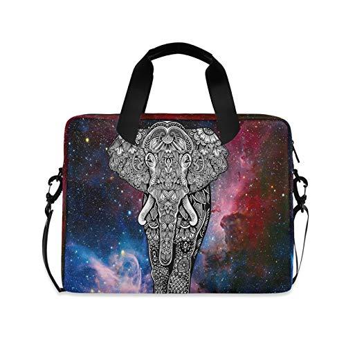 OOWOW - Bolsa para portátil para mujer y hombre, diseño de nebulosa galaxia, animal elefante, ligero, maletín para ordenador portátil de 14 15,6 16 pulgadas