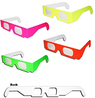 50 pairs 3D Fireworks Glasses Neon Multi-Starbursts of 3D Color for Fireworks Displays, Holiday Lights, Club/Concert Lights