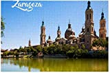 New Zaragoza Spain Puzzle 1000 Pieces Wooden Adult Jigsaw Puzzle Color Abstract Painting Puzzle for...