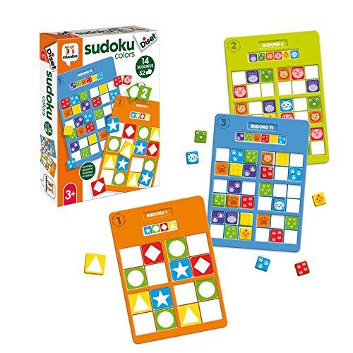 Diset- Sudoku Colors Educativo 3 años Juguete (68969)