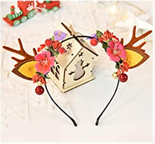 QQRS- Christmas headdress female cute adult headband children's hair accessories Christmas decoration jewelry girls hairpin antler headband (Style : 4#)