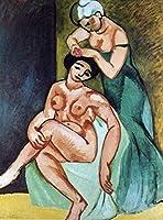 NC56 大人の数による絵画、初心者のDIY絵画キット、アクリルペイントキャンバス-有名な絵画-女性風呂-40x50cm