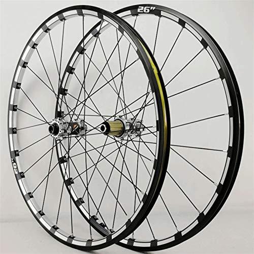 Accesorio de bicicleta de ejes de liberación rápid MTB Bikycle Wheelset 26 27.5 29 pulgadas CNC borde de bicicleta a través del freno del disco del eje DH Ruedas de ciclismo Cochinillo de cojinete sel