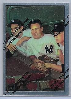 1997 Finest Baseball Mickey Mantle Commemorative 1953 Bowman Bauer-Berra-Mantle Reprint Card # 21