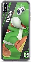 ZMEGGW iPhone XR Funda Pure Clear Soft-Flexible Anti-Rasguños Cajas del Teléfono Cover para Apple iPhone XR 6.1 Pulgadas (Yoshi Happy Green Dinosaur Game)