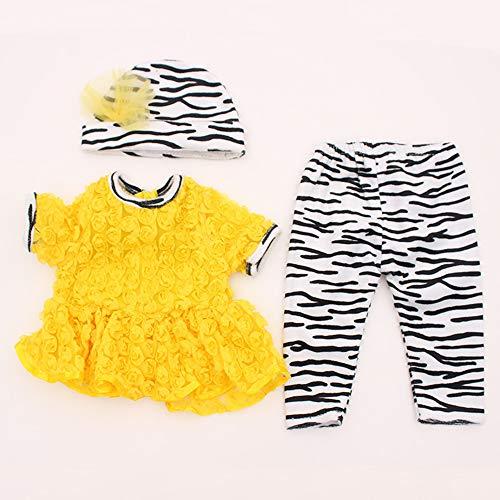 TERABITHIA 13 Adapta a 45-50 cm muñecas recién Nacidas Vestido Reborn Baby Doll Toda la Ropa de algodón