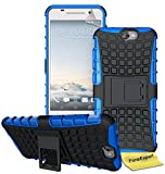 HTC ONE A9 Handy Tasche, FoneExpert® Hülle Abdeckung Cover schutzhülle Tough Strong Rugged Shock Proof Heavy Duty Case für HTC ONE A9 + Bildschirmschutzfolie (Blau)