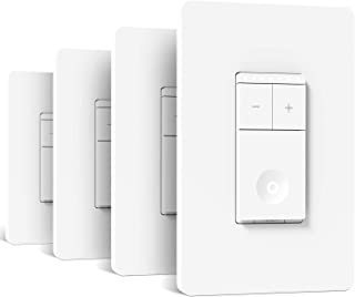 Treatlife Smart Dimmer Switch, Neutral Wire Needed, 2.4Ghz Wi-Fi Light Switch, Compatible with Alexa and Google Assistant,...