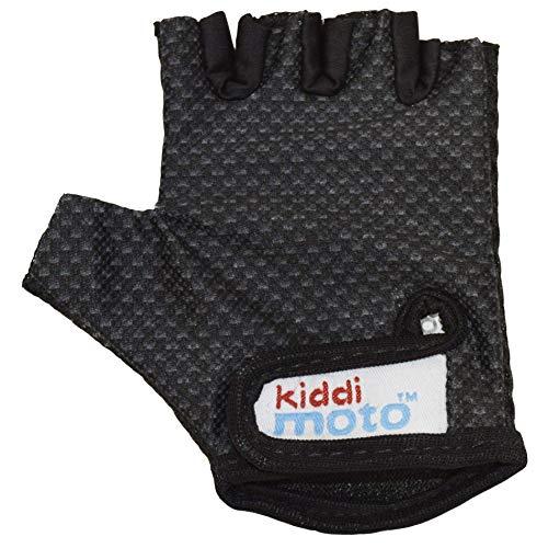 KIDDIMOTO Guantes de Ciclismo sin Dedos para Infantil (niñas y niños) - Bicicleta, MTB, BMX, Carretera, Montaña - Karbon FX - Talla: M (5-8 años)