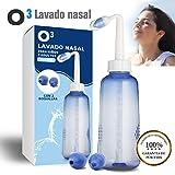 O³ Lavado Nasal 500 ml Con 2 Boquillas Para Bebes Y Adultos Para...