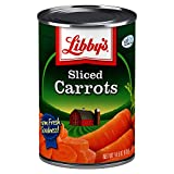 Libby's Sliced Carrots | Appealingly Tender & Deliciously Sweet | Vibrant Orange Slices | Farm Fresh Goodness | No Preservatives | 14.5 ounce cans (Pack of 12)