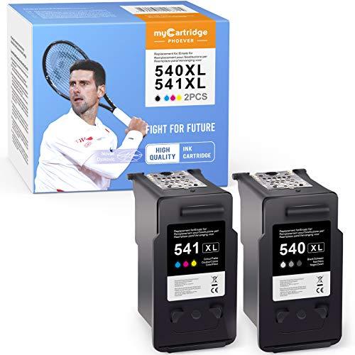 MyCartridge PHOEVER Cartuchos de tinta remanufacturados compatibles con Canon PG-540 XL CL-541 XL para cartuchos Canon PIXMA TS5150 TS5151 MX395 MX475 MG2150 MG2250 MG3150 MG4150 MG4250r