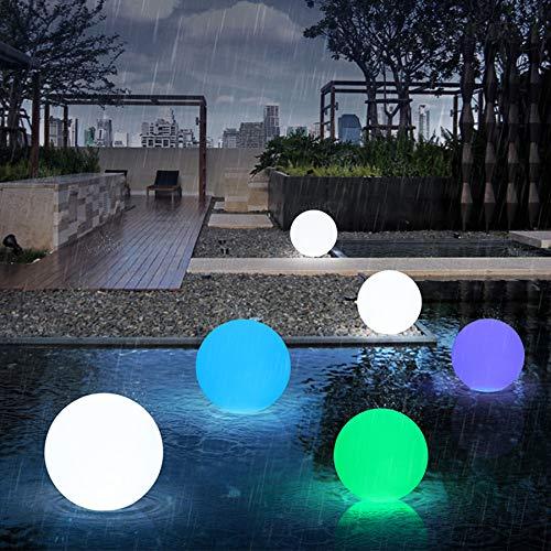 ZDSKSH Schwimmende Poolleuchten Wasserdicht Mit Fernbedienung RGB LED Solar Kugel Mit 16 Farben, 1800Mah USB Aufladbar Kugellampe, Wasserdicht IP68 Für Pool Teich Garten Partei 40Cm