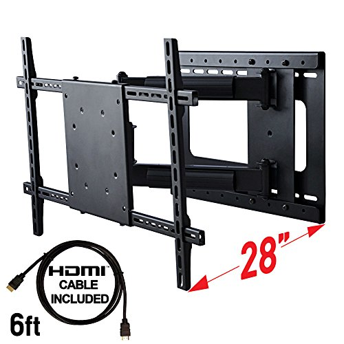 Aeon Stands and Mounts 40200 full motion TV wall mount with 28' Extension (Black)