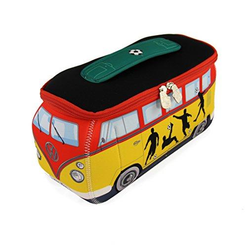 BRISA VW Collection - Volkswagen T1 Bulli Bus 3D Universal-Schmink-Kosmetik-Kultur-Reise-Hausrats-Tasche-Mäppchen-Beutel (Fußball/Neopren)