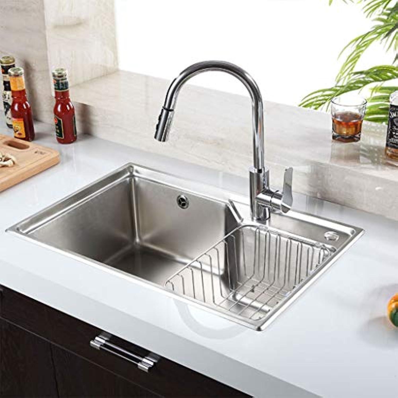Abriebfeste Küchenspüle eingebettete Einzelschlitz, 304 Edelstahl, leicht zu reinigen, MP0327