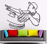 Música DJ Pegatinas de pared Club nocturno Club de noche Estilo de música Calcomanías de pared Club de noche Decoración de la noche Música de vinilo extraíble DJ Fotomural 74 * 57cm