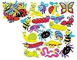 Baker Ross- Pegatinas de Espuma con Insectos (Pack de 120) para Que los niños Puedan diseñar, Crear y exhibir - Kit de Manualidades Creativas