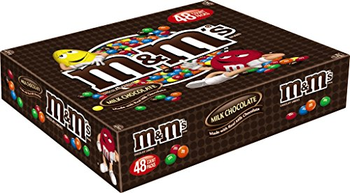 M&M'S Milk Chocolate Candy Singles Size 1.69-Ounce Pouch 48-Count Box