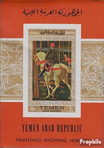 Prophila Collection Nordjemen (Arabische Rep.) Block73 (kompl.Ausg.) 1968 Pferdegemälde (Briefmarken für Sammler) Malerei