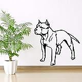 Tianpengyuanshuai Vinilo Adhesivo de Pared extraíble Bulldog Dog Wall Decal Pet Wall Painting 30X75cm