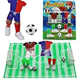 Alasida Finger Football Game Sets with Two Goals Funny Family Party Finger Soccer Game