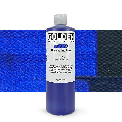 Golden Fluid Acrylics - Ultramarine Blue - 16 oz Bottle by Golden Artist Colors
